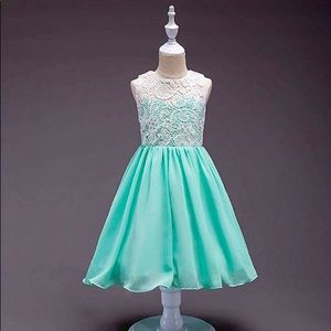 Other - New! Teal Lace Flower Girl Party Dress - Kids 7/8